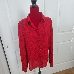 NY&CO Woman's Button Down Blouse